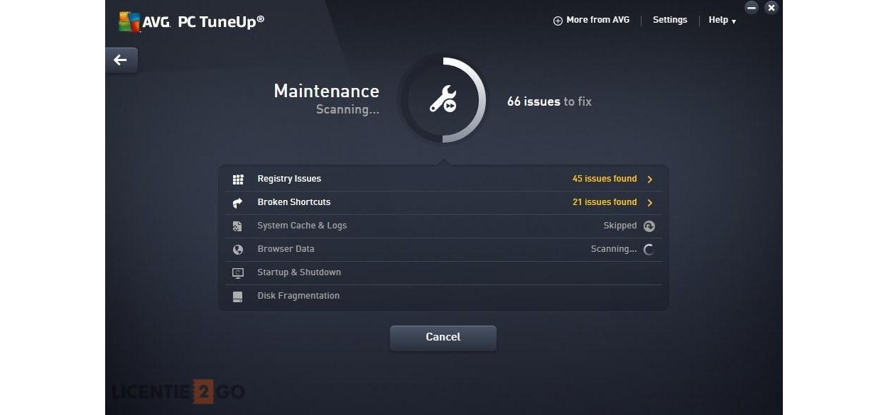 AVG PC TuneUp Performance: Onbeperkt 1jaar
