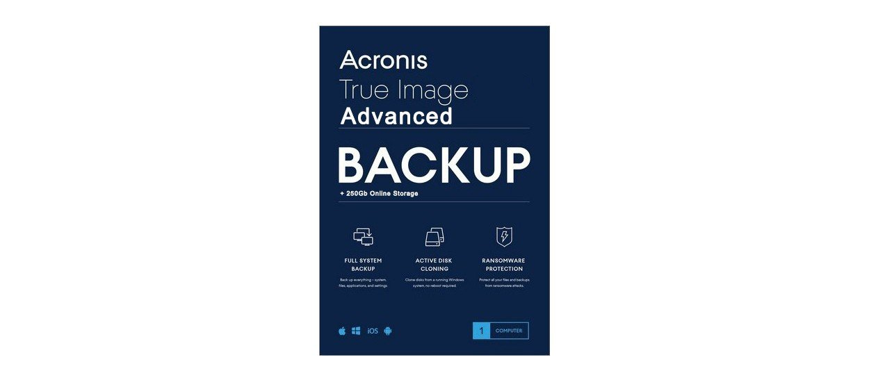Acronis True Image Advanced 3Apparaten 1Jaar