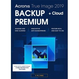 Acronis True Image Premium 5Apparaten 1Jaar