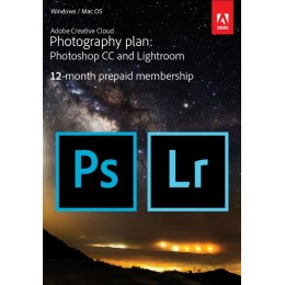 Multimedia: Adobe Photography Plan Creative Cloud 1 Gebruiker 1Jaar 20GB cloudopslag