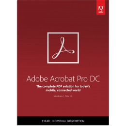 Business: Adobe Acrobat Professional DC Multi-Language 1User 1Year