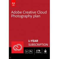 Multimedia: Adobe Photography Plan Creative Cloud 1 Gebruiker 1Jaar 1TB cloudopslag