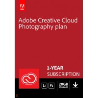 Adobe summer promo!: Adobe Photography Plan (Photoshop CC + Lightroom CC) | 1 User | 1year | 20GB cloudstorage
