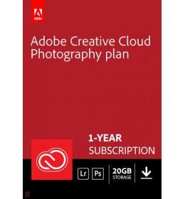 Adobe Photography Plan (Photoshop CC + Lightroom CC) | 1 User | 1year | 20GB cloudstorage