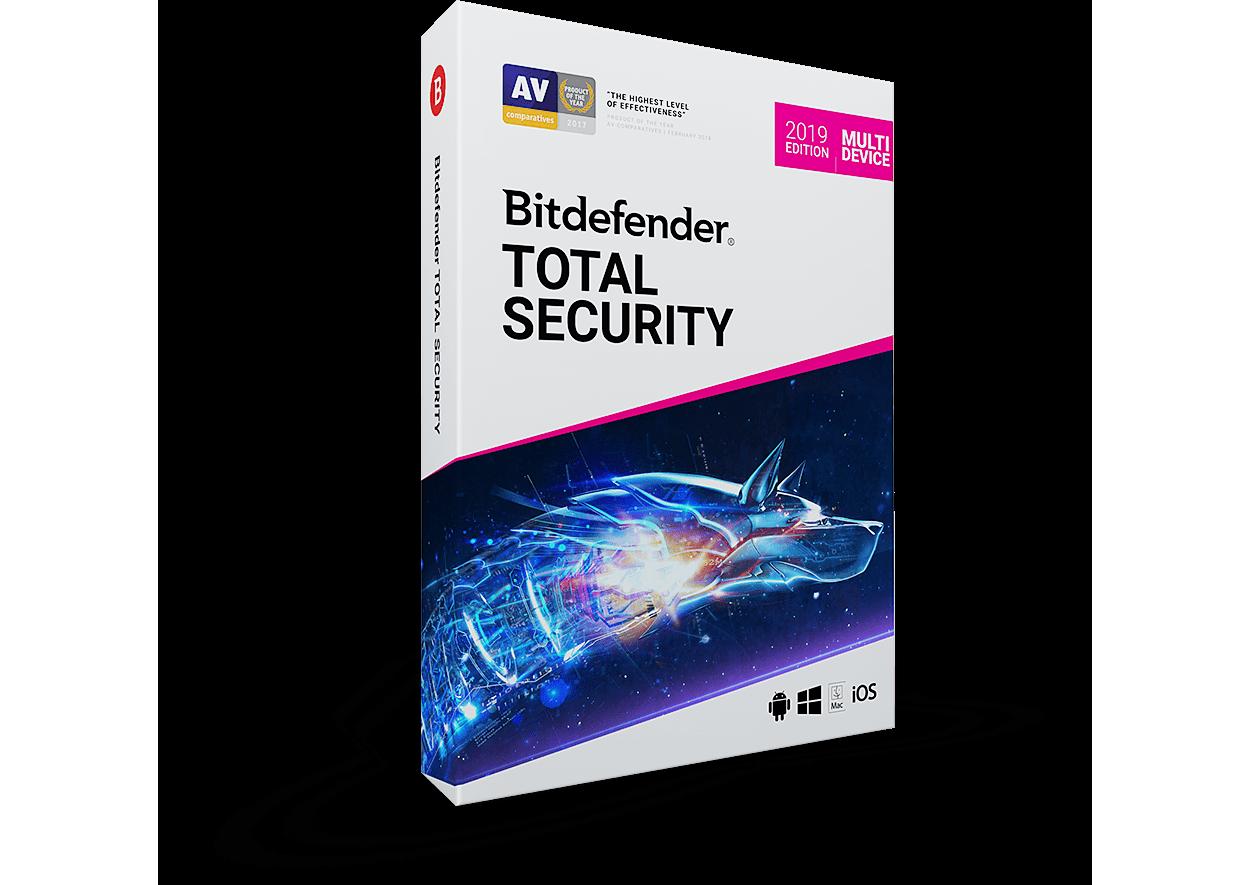 Bitdefender Total Security Multi-Device 2019 5-Devices 1jaar