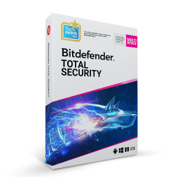 Security: Bitdefender Total Security Multi-Device 2019 10-Devices 3years