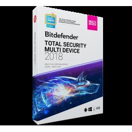 Bitdefender Total Security Multi-Device 3-Devices 1jaar