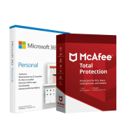 Microsoft 365 Personal + McAfee Protection | 1 User