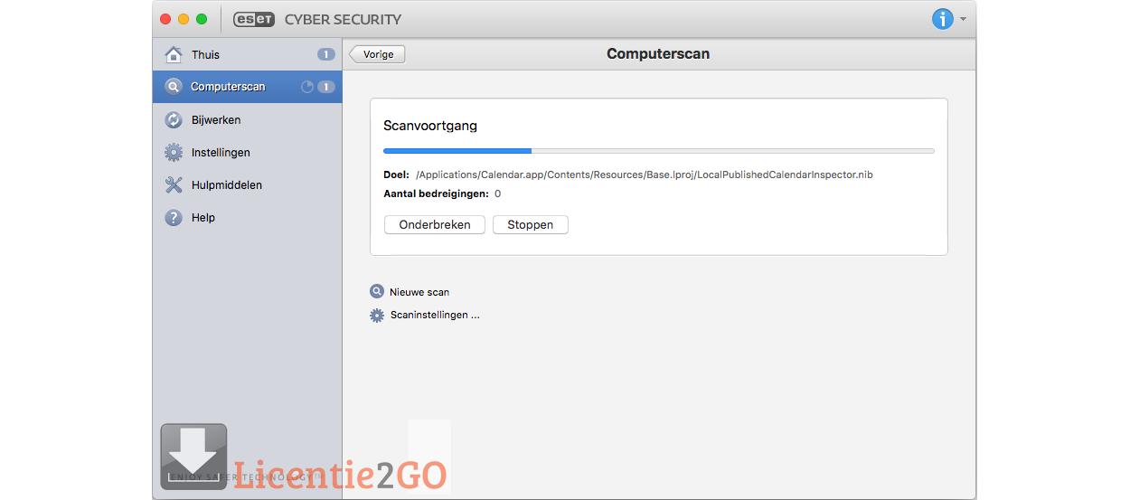 ESET Cyber Security 2Macs 1Jaar Verlenging 2019