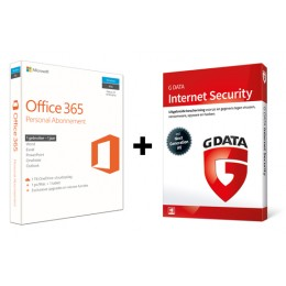 Office voor thuisgebruik: Voordeelbundel: Office 365 Personal + G-Data Internet Security 1PC 1Jaar