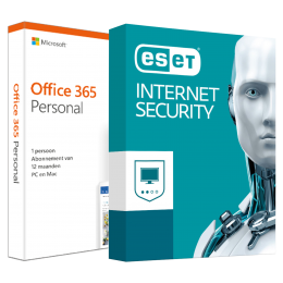 Office voor thuis: Voordeelbundel: Office 365 Personal + ESET Internet Security Multi Device 5 apparaten 1 jaar