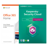 Voordeelbundel: Office 365 Home 6 Gebruiker + Kaspersky Security Cloud Family 20 apparaten 1 jaar
