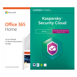 Office: Voordeelbundel: Office 365 Home 6 Gebruiker + Kaspersky Security Cloud Family 20 apparaten 1 jaar