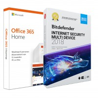Voordeelbundel: Office 365 Home + Bitdefender Internet Security 5 PCs 1 jaar