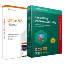 Office: Voordeelbundel: Office 365 Home + Kaspersky Internet Security 5 apparaten 1 jaar