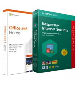 Voordeelbundel: Office 365 Home + Kaspersky Internet Security 5 apparaten 1 jaar