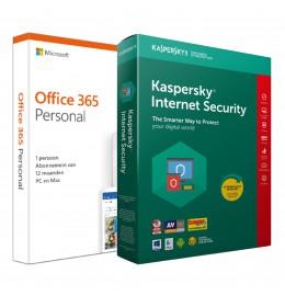 Voordeelbundel: Office 365 Personal + Kaspersky Internet Security 1 apparaat 1 jaar