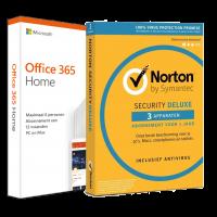 Voordeelbundel: Office 365 Home + Norton Security Deluxe 3 devices 1 year
