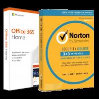 Voordeelbundel: Office 365 Home + Norton Security Deluxe 5 devices 1 year