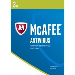 McAfee Antivirus 3PC 1jaar