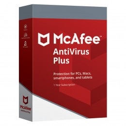 Beveiliging: McAfee AntiVirus Plus 10 apparaten 1jaar
