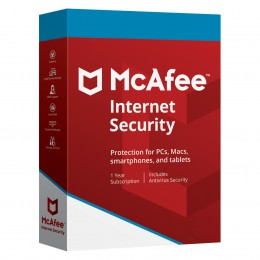 Parental Control: McAfee Internet Security Unlimited PCs 1year 2020