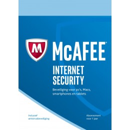 McAfee Internet Security 1PC 1jaar