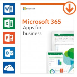 Office products: Microsoft 365 apps for business Annual subscription | 1User | 15 Devices