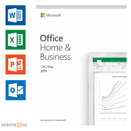 Office for home use: Microsoft Office 2019 Home & Business Windows + Mac