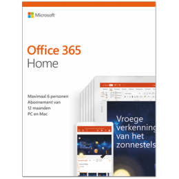 Office: Microsoft Office 365 Home | 6Gebruikers 1jaar |  Windows | Mac | Android | iOS | Updates inbegrepen