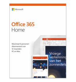 Microsoft Office 365 Home | 6Gebruikers 1jaar |  Windows | Mac | Android | iOS | Updates inbegrepen