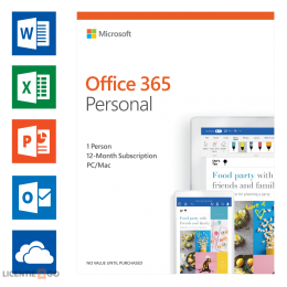 Office 365: Microsoft Office 365 Personal 1User 1year