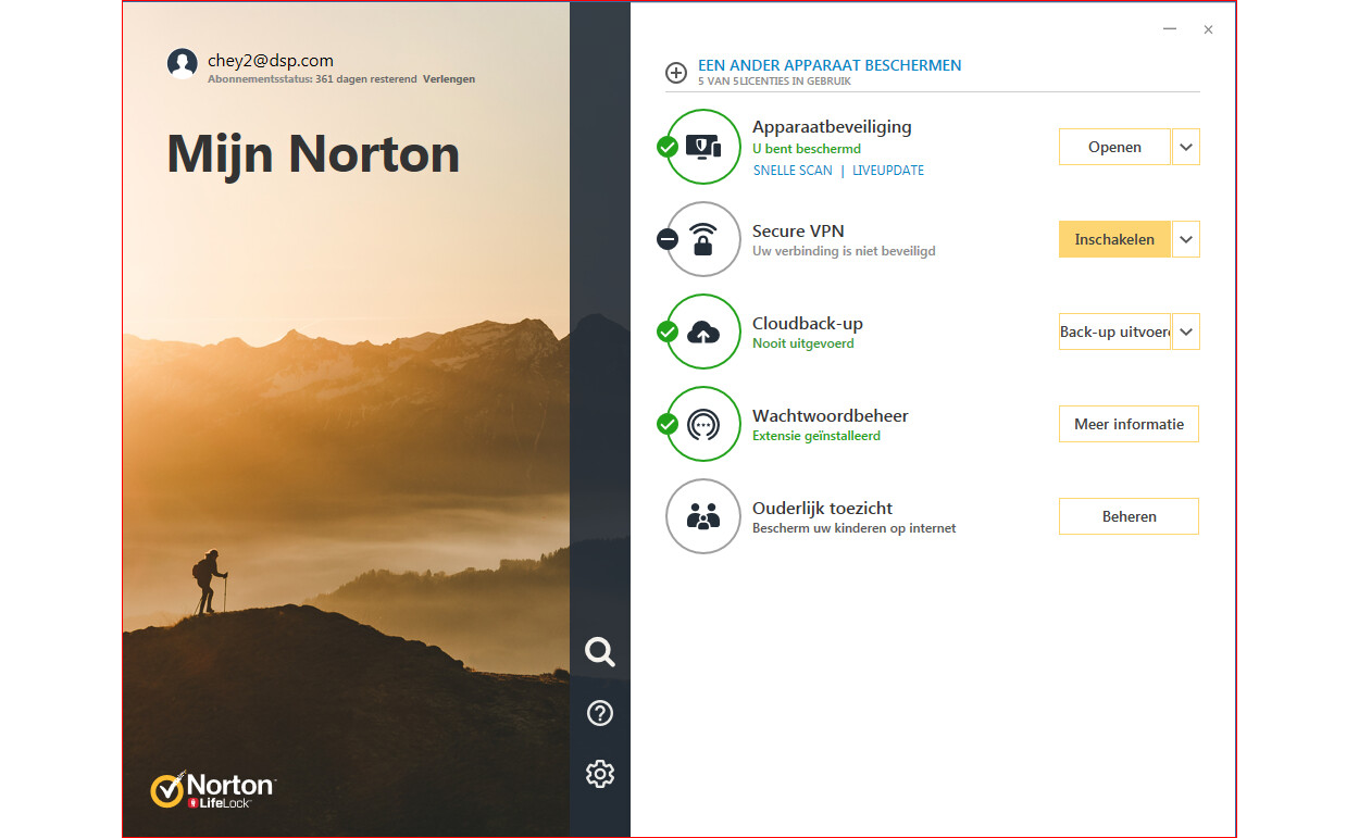 Norton 360 Deluxe | 5Apparaten - 1Jaar | Windows - Mac - Android - iOS | 50Gb Cloud Opslag