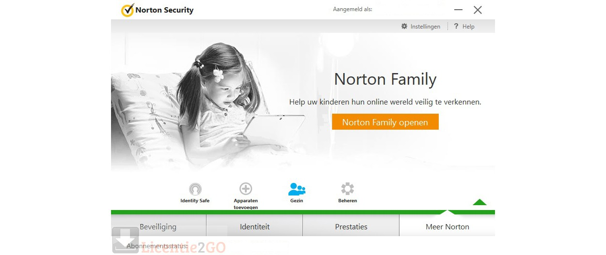 Norton Family; bescherm tot 5 apparaten