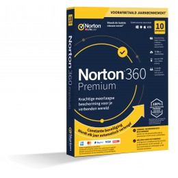 Norton 360 Premium | 10Apparaten - 1Jaar | Windows - Mac - Android - iOS | 75GB Cloud Opslag