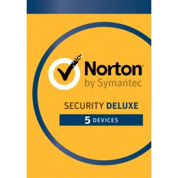 Total Security: Norton Security Deluxe 5-Devices 1year 2019 -Antivirus included- Windows | Mac | Android | iOS