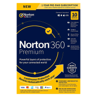 Internet Security: Norton 360 Premium | 10Devices - 1Year | Windows - Mac - Android - iOS |75GB Cloud Storage