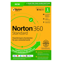 Norton Security Standard: Norton 360 Standaard | 1Device - 1Year | Windows - Mac - Android - iOS | 10Gb Cloud Storage