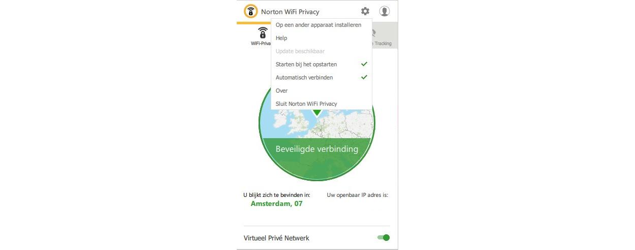 Norton WiFi Privacy 5-Apparaten 1 jaar
