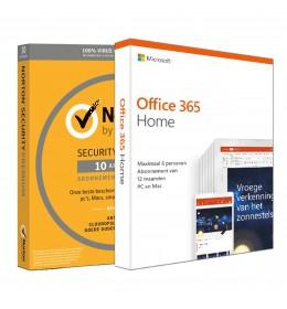 Voordeelbundel: Norton Security Premium 10-apparaten + Office 365 Home 6-apparaten