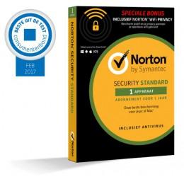 Norton Security Standard + WiFi Privacy 1-Apparaat 1jaar