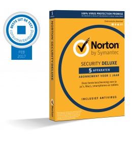 Norton Security Deluxe 5-Apparaten 1jaar