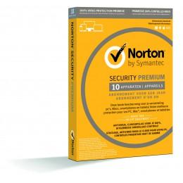 Norton Internet Security: Norton Security Premium 10-Apparaten - inclusief backup - 1jaar 2019 - Antivirus inbegrepen