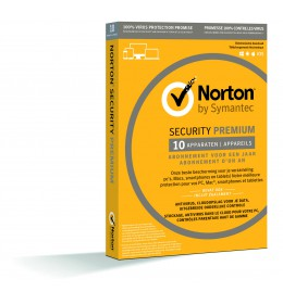 Norton Security Premium 10-Apparaten - inclusief backup - 1jaar 2019 - Antivirus inbegrepen