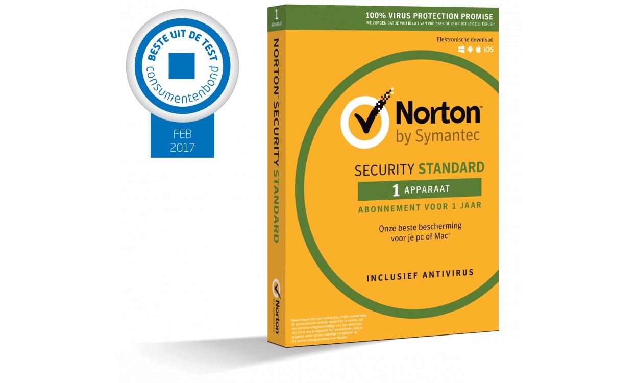 norton security standard 1 device 1jaar. Black Bedroom Furniture Sets. Home Design Ideas
