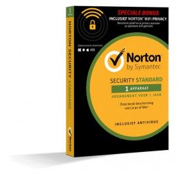 Security: Norton Security Standard + WiFi Privacy 1-Device 1year