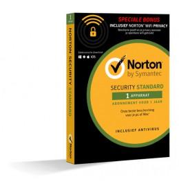 Norton Security Standaard + WiFi Privacy 1-Apparaat 1jaar 2019