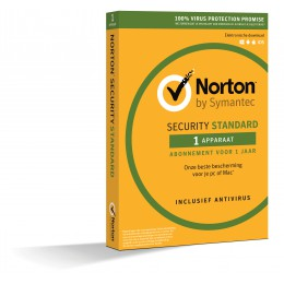 Norton Security Standard: Norton Security Standaard 1-Apparaat 1jaar 2019 - Verlenging - Antivirus inbegrepen