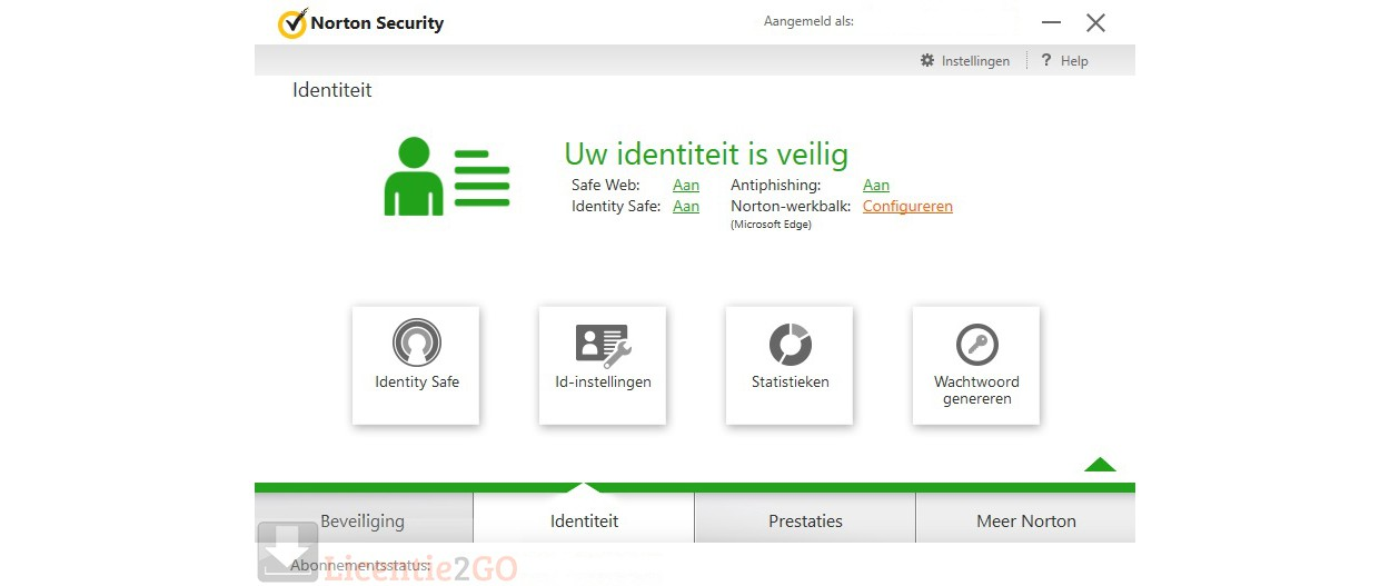 Norton identity protection: identiteit is veilig
