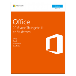Office: Microsoft Office 2016 Thuisgebruik & Student 1PC Windows
